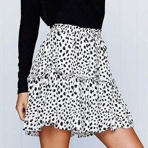 High Waisted Summer Mini Skirt